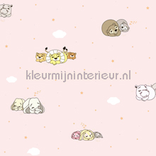 Slapende dieren behang Rasch Bimbaloo 2 330044