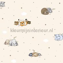 Slapende dieren behang Rasch Bimbaloo 2 330051