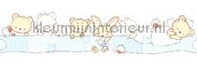 Slapende beertjes rand behang Rasch Bimbaloo 2 330372