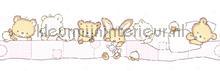Slapende beertjes rand behang Rasch Bimbaloo 2 330389