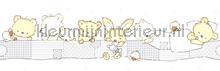 Slapende beertjes rand behang Rasch Bimbaloo 2 330396