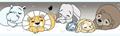 Slapende dieren behangrand  rasch