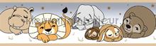 Slapende dieren behangrand Rasch Bimbaloo 2 330426