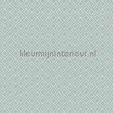 Blok ritme oud groenblauw tapeten AS Creation Bjorn 351804