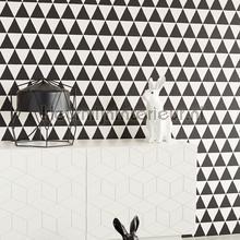 Driehoekjes behang zwart wit tapet Eijffinger Black and Light 356011