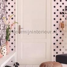 Wit behang met zwarte stippen tapet Eijffinger Black and Light 356060