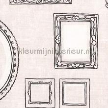 Schilderijlijstjes behang licht tapet Eijffinger Black and Light 356110