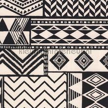 Etnic zwart wit tapet Eijffinger Black and Light 356121
