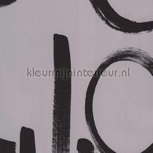 Fabulous behang grijs met zwarte letters tapet Eijffinger Black and Light 356141