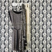 Grafische bloemlijnen tapet Eijffinger Black and Light 356151