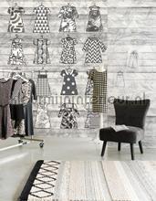 Fotobehang What to wear tapet Eijffinger Black and Light 356212