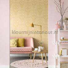 Uni vlies pastel roze papier peint Eijffinger Blend 363051