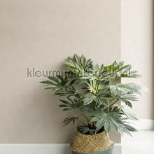 Uni vlies pastel grijsbeige behang Eijffinger romantisch modern