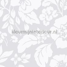 Frisse bloemen lichtgrijs papier peint Eijffinger Blend 363061
