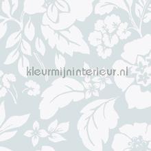 Frisse bloemen zachtblauw papier peint Eijffinger Blend 363062