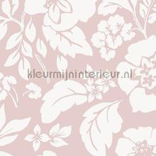Frisse bloemen roze behang Eijffinger romantisch modern