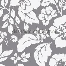 Frisse bloemen grijs papier peint Eijffinger Blend 363065