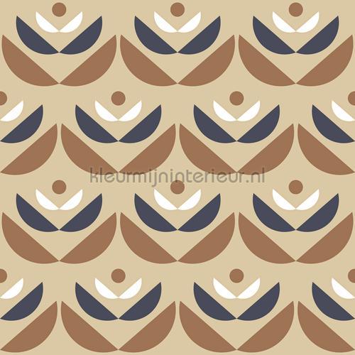 Cookies brown behang 131102 Blue Book Lavmi