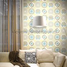 Clocks beige behang Lavmi Vintage Oud behang