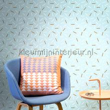 Matches blue behang Lavmi Vintage Oud behang