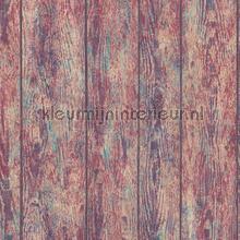 Wood base coloured behang AS Creation hout