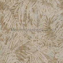 Palmtakken beige zilverbrons tapeten AS Creation Borneo 322633