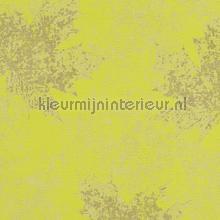 Kastanje bladmotief geelgroen tapeten AS Creation Borneo 322642
