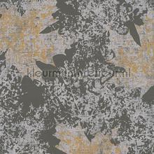 Kastanje bladmotief zilver grijs tapeten AS Creation Borneo 322643