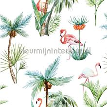 Flamingo Palm tapet Creative Lab Amsterdam Wallpaper creations