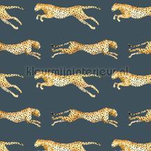 Leopard Blue papier peint Creative Lab Amsterdam spécial