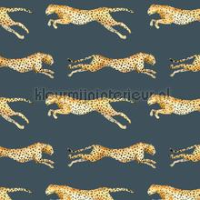 Leopard Blue carta da parati Creative Lab Amsterdam Botanical Collection leopard-blue