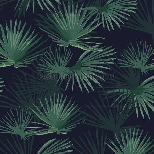 Palm Leaves Dark Green tapet palm-leaves-dark-green Exotisk Creative Lab Amsterdam