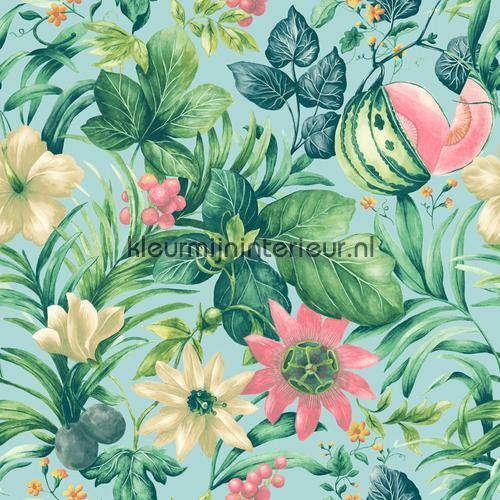 Mint paradise behang BA2002 Trendy - Hip Dutch Wallcoverings