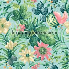 Mint paradise behang Dutch Wallcoverings Botanical BA2002