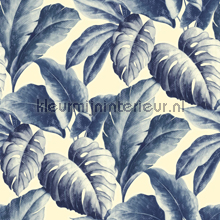 Gatenplant blauw tapet Dutch Wallcoverings salg