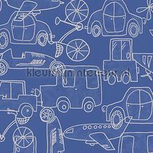 Drukte op de weg blauw behang AS Creation Baby Peuter