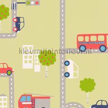 Straten en autos behang AS Creation Baby Peuter