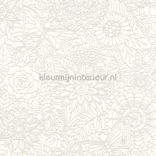Bloemenrelief tapet 35816-1 piger AS Creation