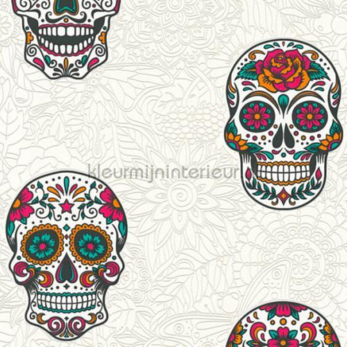 Sugar skulls tapet 35817-2 piger AS Creation