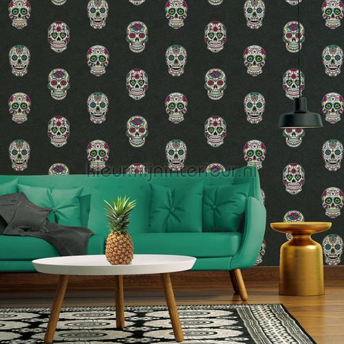 Sugar skulls wallcovering 35817-3 girls AS Creation