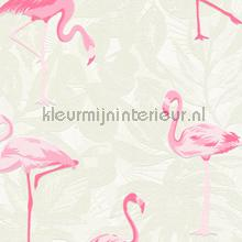 Flamingos in het wit gebladerte papel de parede AS Creation Wallpaper creations