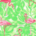 Flamingos in het groen pattern kids room