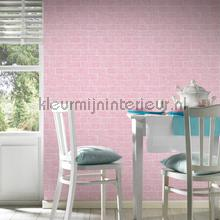 Roze bakstenen met relief papel de parede AS Creation Wallpaper creations
