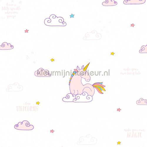 eenhoorn op wolken wallcovering 36158-1 girls AS Creation