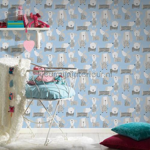 Allemaal hondjes wallcovering 36755-1 girls AS Creation