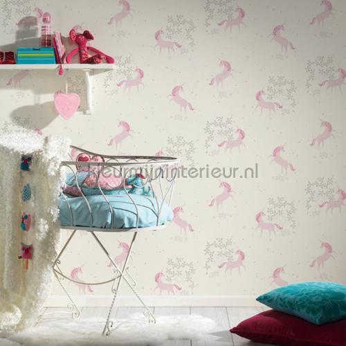 Pastel eenhoorns papel de parede 36989-1 raparigas AS Creation