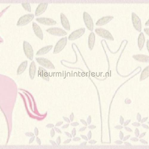 Pastel eenhoorn behangrand papier peint 36990-1 filles AS Creation