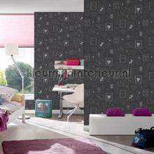 Schattige inlijstingen wallcovering 36991-3 girls AS Creation