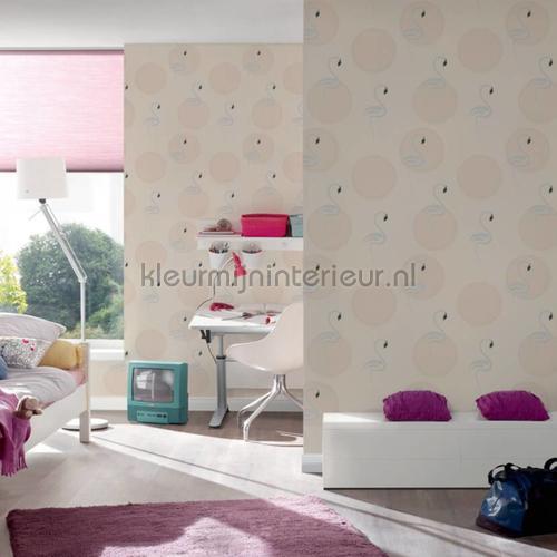 Pure flamingo papier peint 36998-2 filles AS Creation