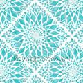 Geruit bloempatroon turquoise tapet Esta home Cabana 140-148-611